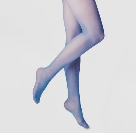 Sheer Blue Tights -