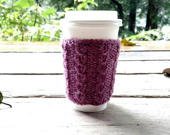 Knit Latte Holder - When you always have a latte in hand, sometimes it's bound to be too hot. Enter, latte holder.