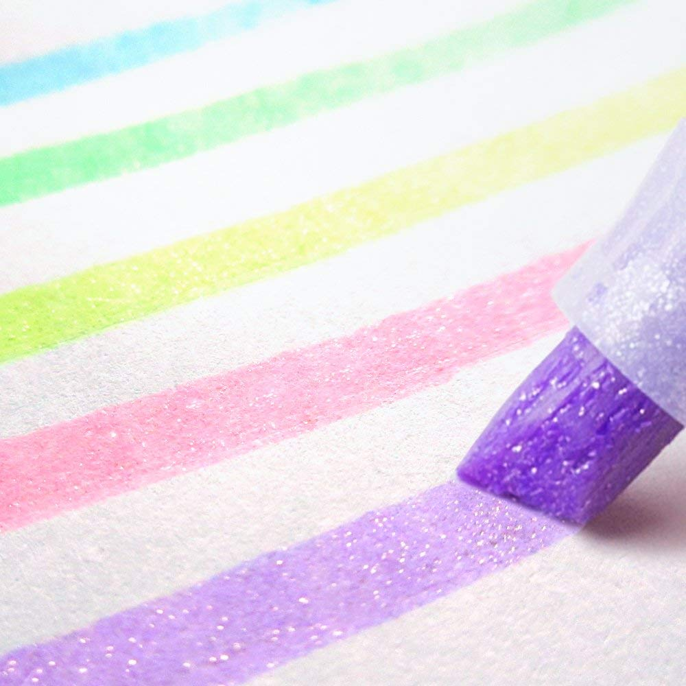 Glitter Highlighters - Even her homework shines brighter than the rest.