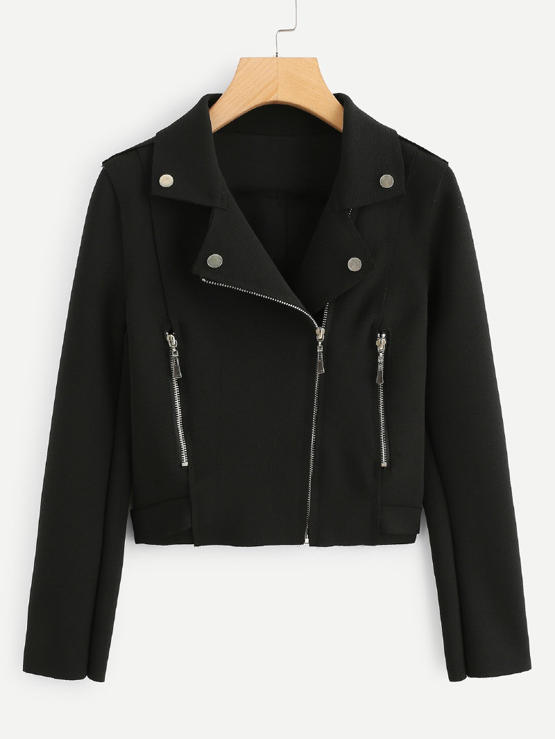 """Black Jacket - A timeless classic for any """"Bad Girl"""" outfit."""