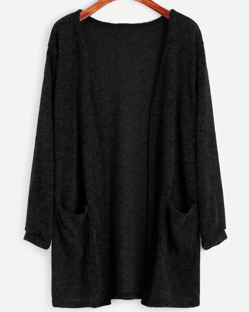 Black Cardigan - Nothing better than a cozy black sweater to snuggle up with as the seasons change.