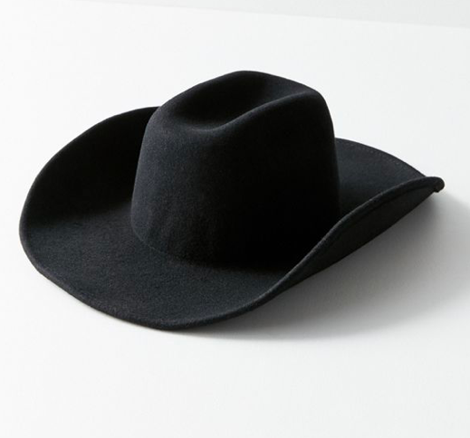 Black Cowgirl Hat - If you're going to go Rodeo Chic, do it right!