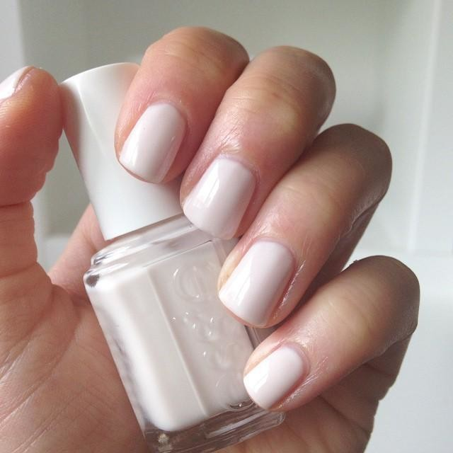 White Nailpolish - Streaks of white keep this outfit from looking sinister. You're one of the good guys, after all!