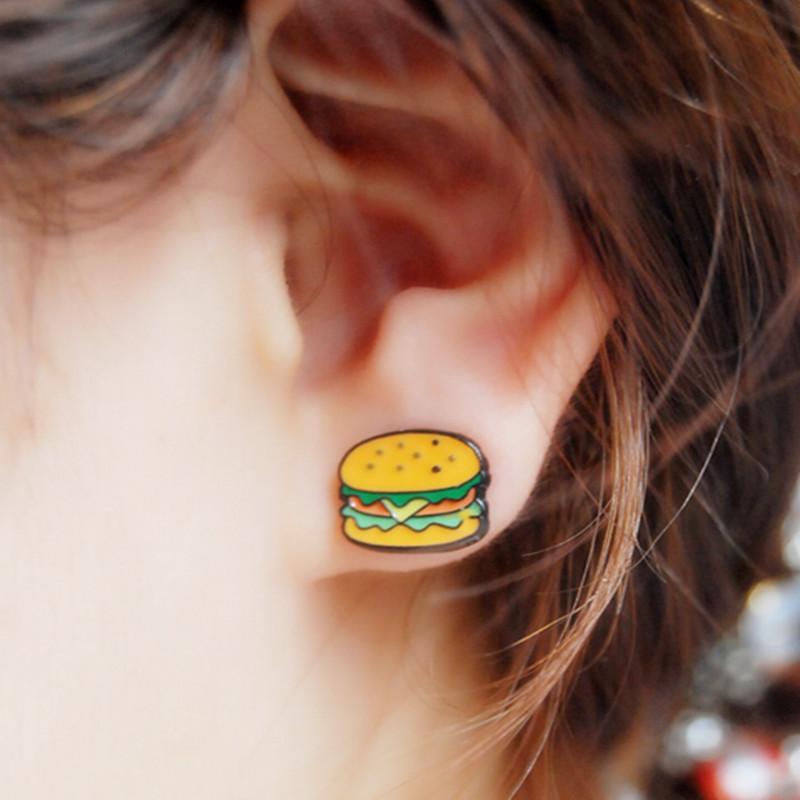Hamburger Earrings - Hamburgers have NEVER looked this classy!