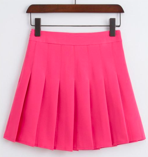 Pink Skirt - A pop of hot pink lets people know who's in charge.