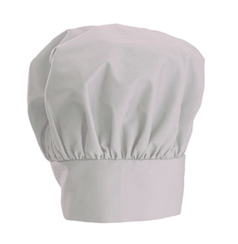 White Chef's Hat - If you're the salt, you'll wear a white chef's hat. No, salt shakers don't wear chef's hats, but you'll need something to stand in as your shaker top.