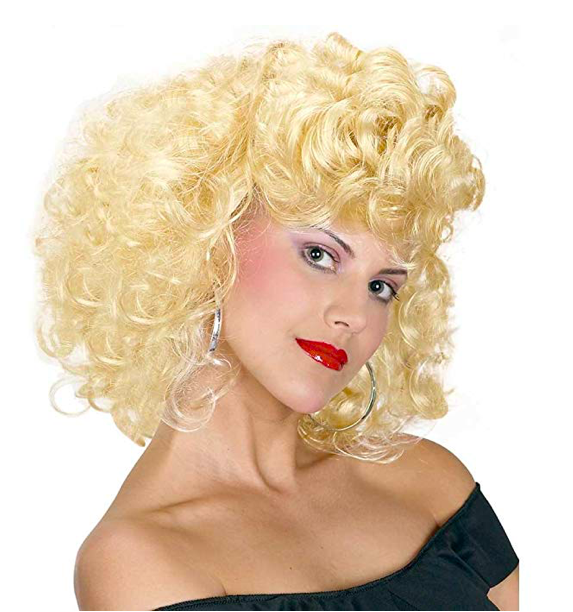 Blonde Wig - The hair is, perhaps, the essence of this costume. The blonde updo represents Sandy's crossing over to the wild side.