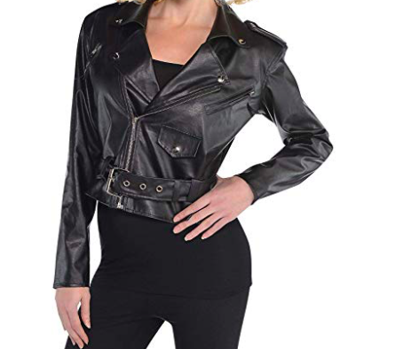 OPTIONAL: Faux Leather Jacket - If you want to pull the look together and let the world know you're bad to the bone, consider this option.