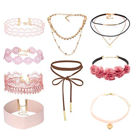 Pink Chokers - Feel free to exchange this pink choker for a black one if you're looking for a darker variation of goth.