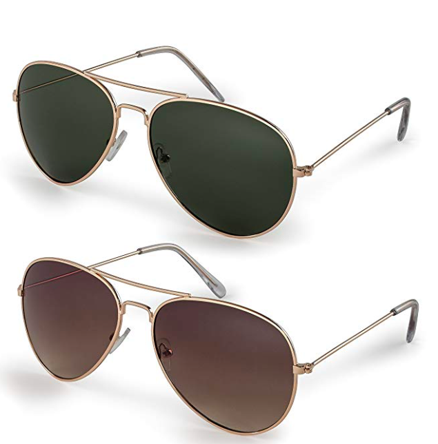 Aviator Sunglasses - Pair these rebellious glasses with the sweet, flowery sundress for an alluring, contrasted look.