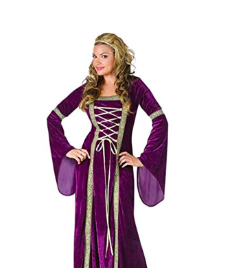 Purple Gown - In the Middle Ages, purple was considered to be the color of royalty. Wear a purple gown to make your power known.
