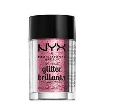 Pink Glitter Eye Shadow - Top the look off with this shimmery enhancement.