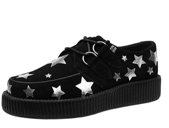 Black shoes, silver stars -