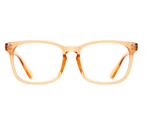 Orange-framed glasses -