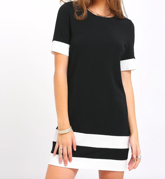 Black shift dress -