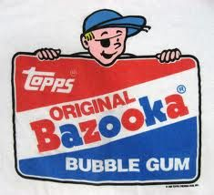 Bazooka Bubblegum - Before Instagram, kids and teens were entertained by tiny comic strips that came folded up inside gum wrappers!