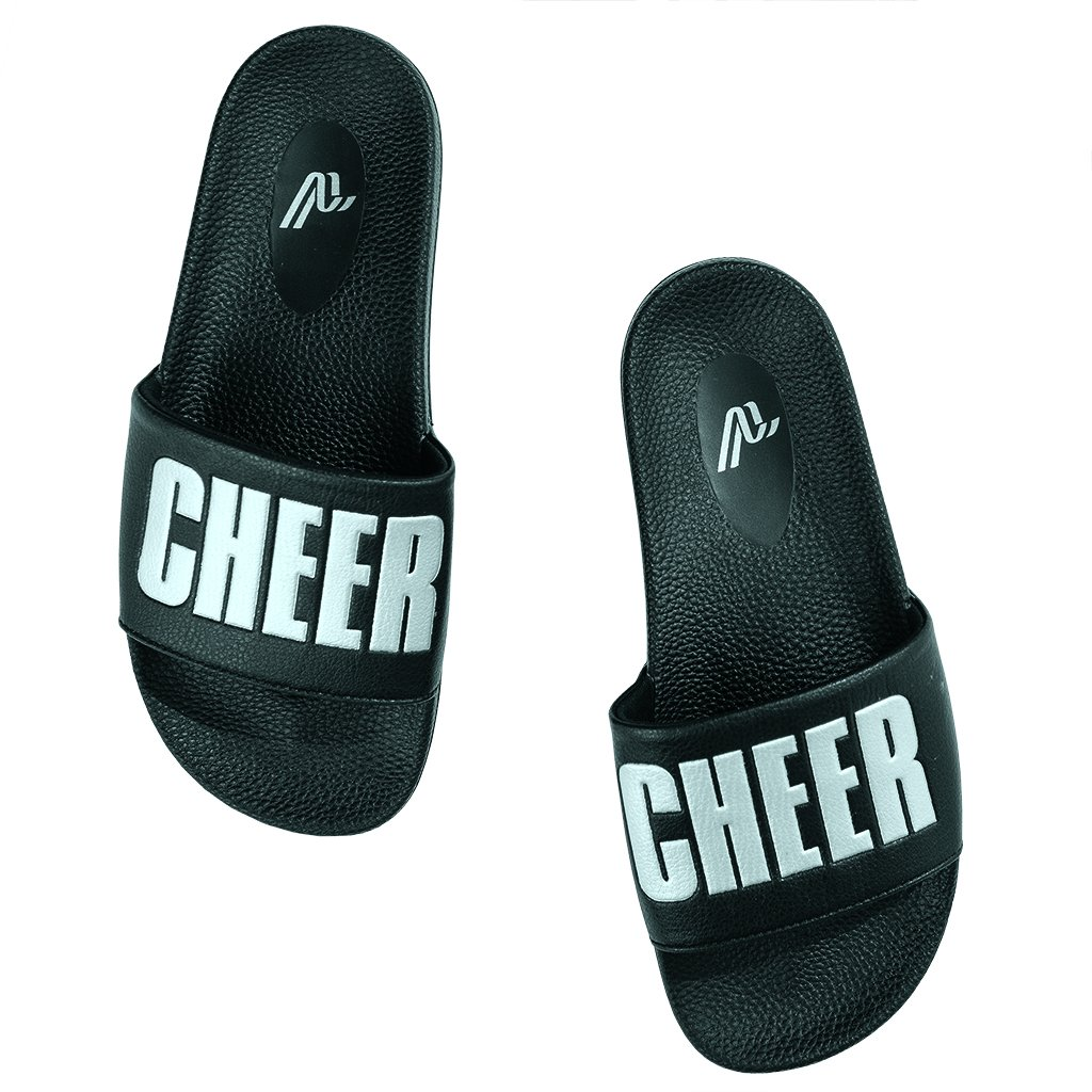 Cheer slides - After a day on her feet, Savannah gets comfy and casual!