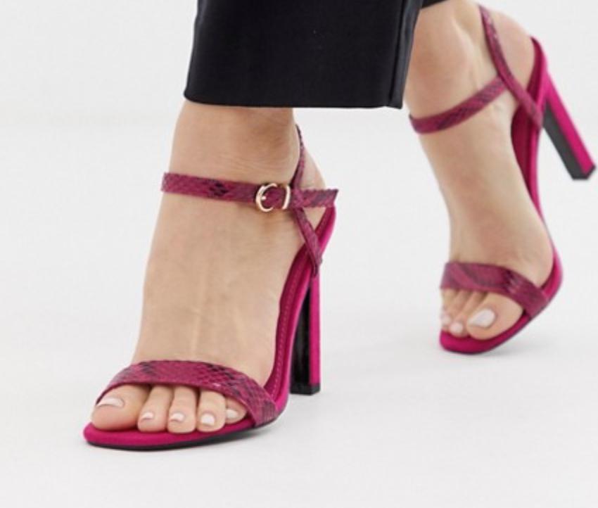 Pink sandal heels -
