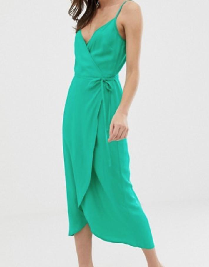 Teal dress -
