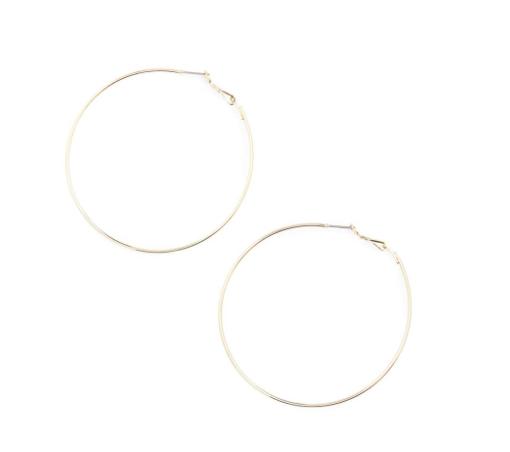 Large hoop earrings -