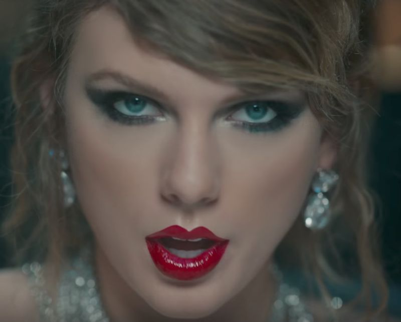 Taylor Swift in the Look What You Made Me Do Music Video - Known for her red-lipped look, Taylor took it to the next level in this controversial video by adding a powerful layer of gloss.