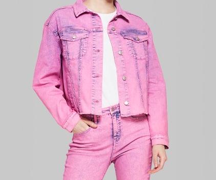 4. Lilac denim jacket -