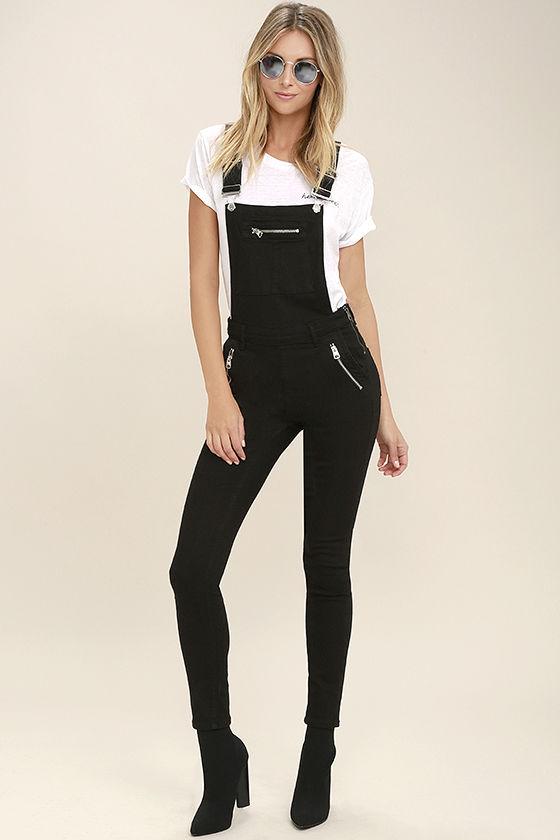 6. Black overalls -