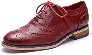 Red-brown Oxfords -