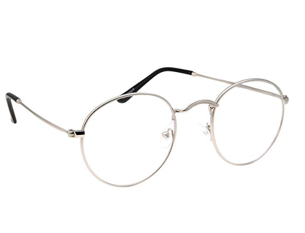 Wire-rimmed glasses -