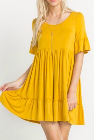 Yellow babydoll dress -