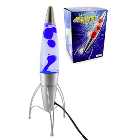 Rocketship lava lamp - Prepare for takeoff! First stop: The wonderful world of Cassie's imagination.