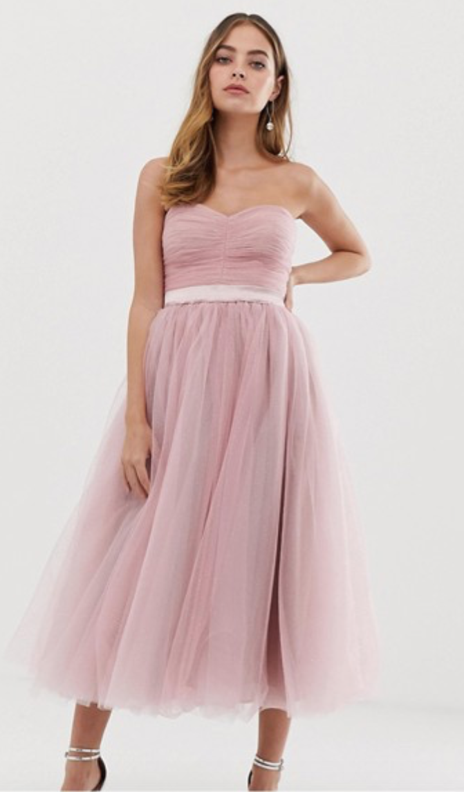 Princess - Look like royalty in blush tulle! Pair with dangly earrings and pink heels to achieve perfection.