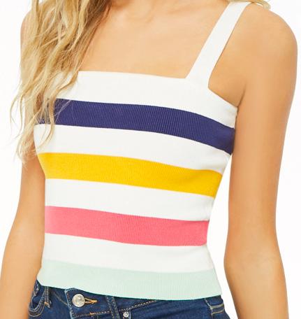 Multi-colored striped top -