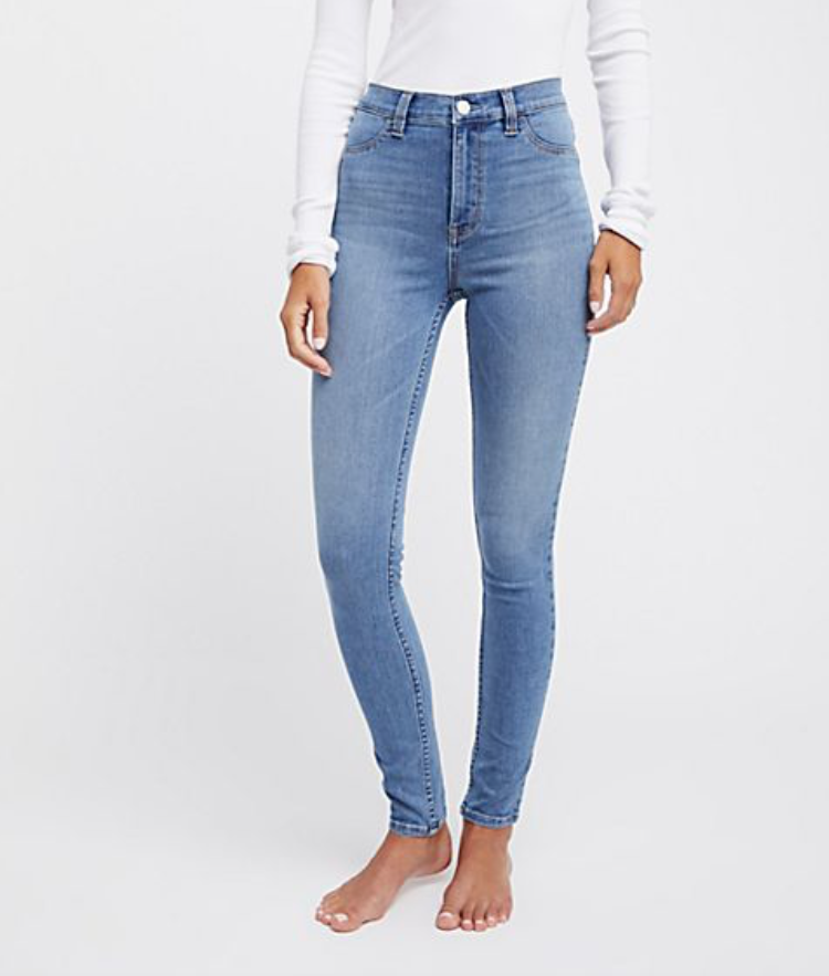 Light blue high waisted jeans -