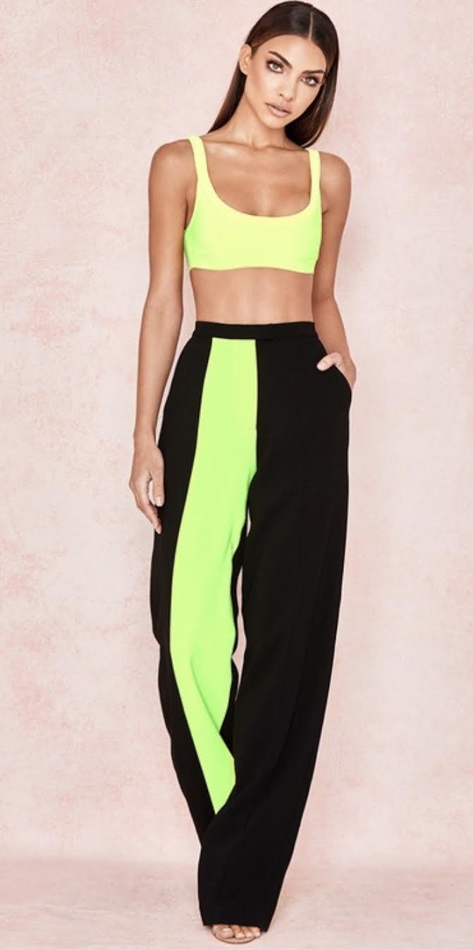 Neon stripe sweatpants -