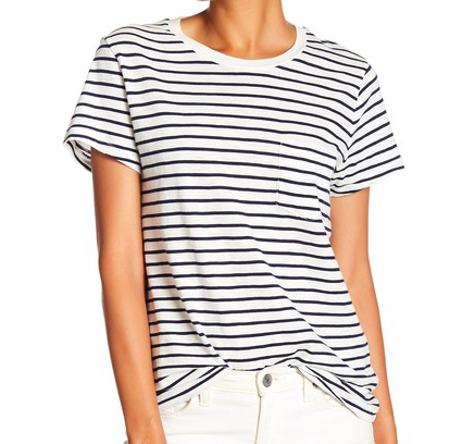 White and black striped shirt -