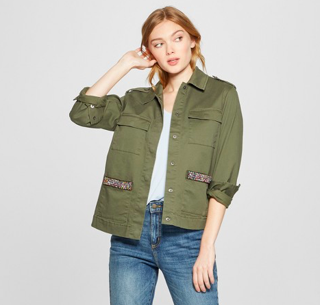 Green military jacket -