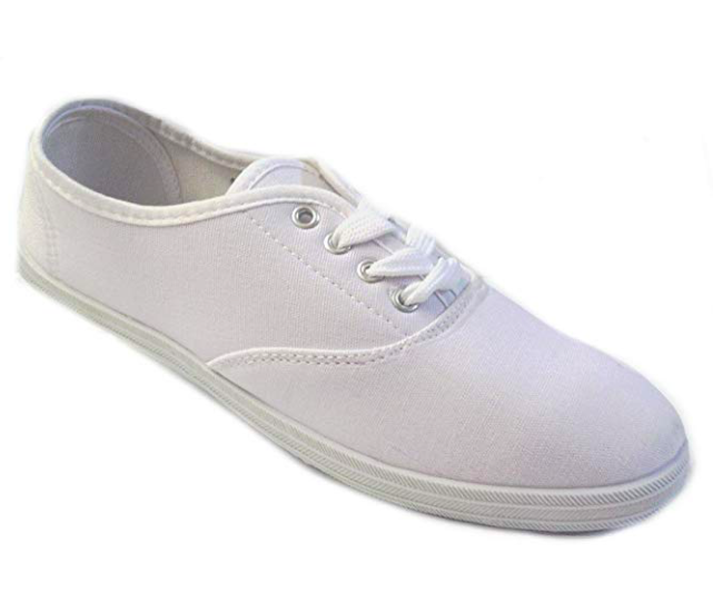 White canvas sneakers -