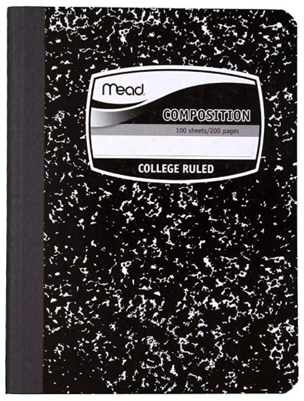 Composition notebook -