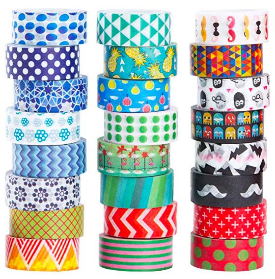 Patterned masking tape -