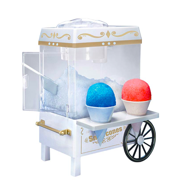 Snow cone ice maker - Note: you can also use crushed ice from your refrigerator OR buy shaved ice from your nearest grocery store.