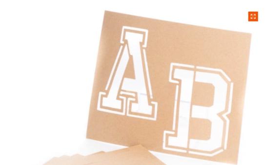 """Letter """"A"""" stencil -"""