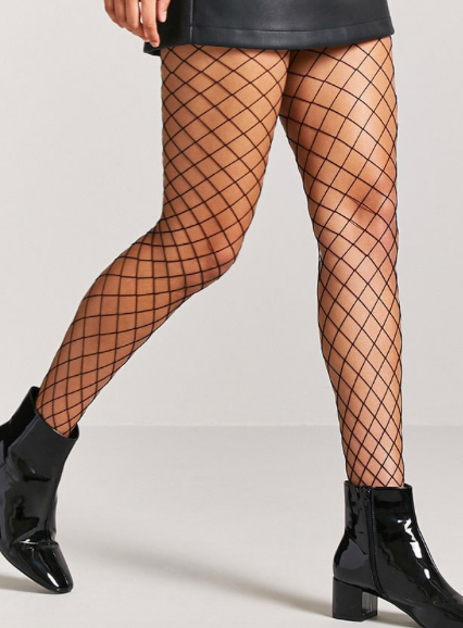Fishnet tights - Here's where things get interesting. Why be normal when you can be goth?