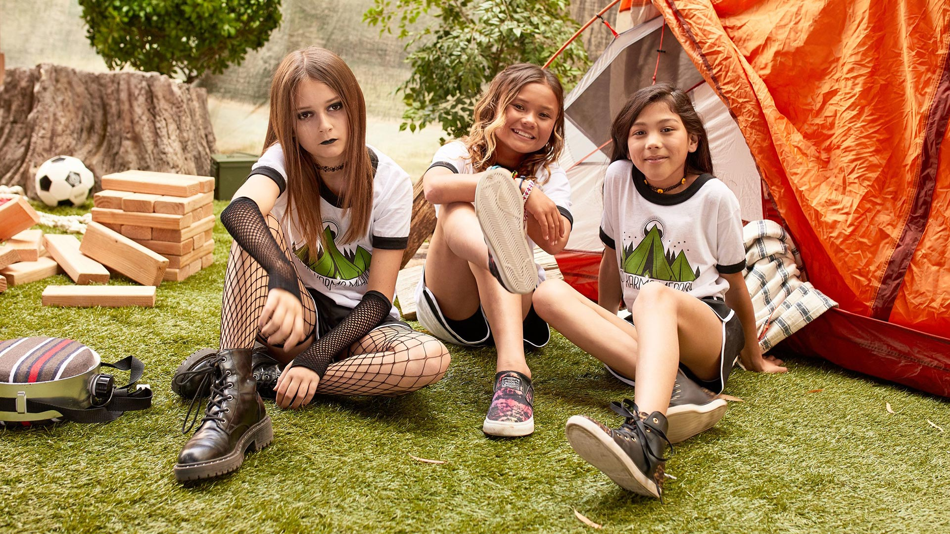 Sophie Ferguson: Dress Like Camp Karma Meadow Goth Girl - Goth Girl's look has gone through some changes (never forget G-Baby). As we speak, she's keeping it goth while rocking a camp uniform. Get her goth camper look in four easy pieces!
