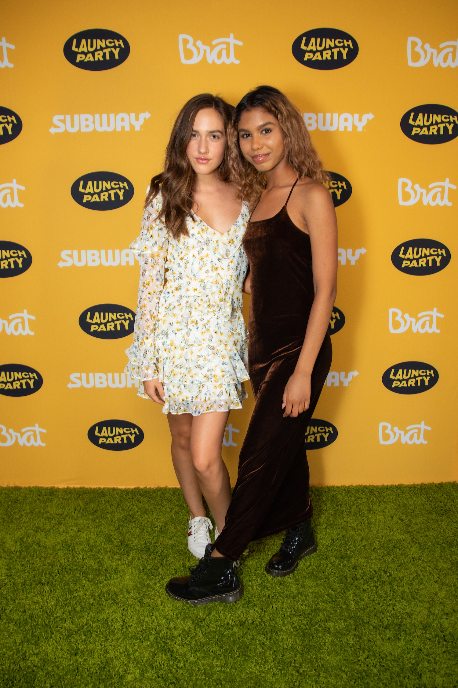 Fierce + Fabulous - Pilot Paisley-Rose and Aliyah Moulden shine in gorgeous statement dresses. Plus, we're loving Aliyah's combat boots!