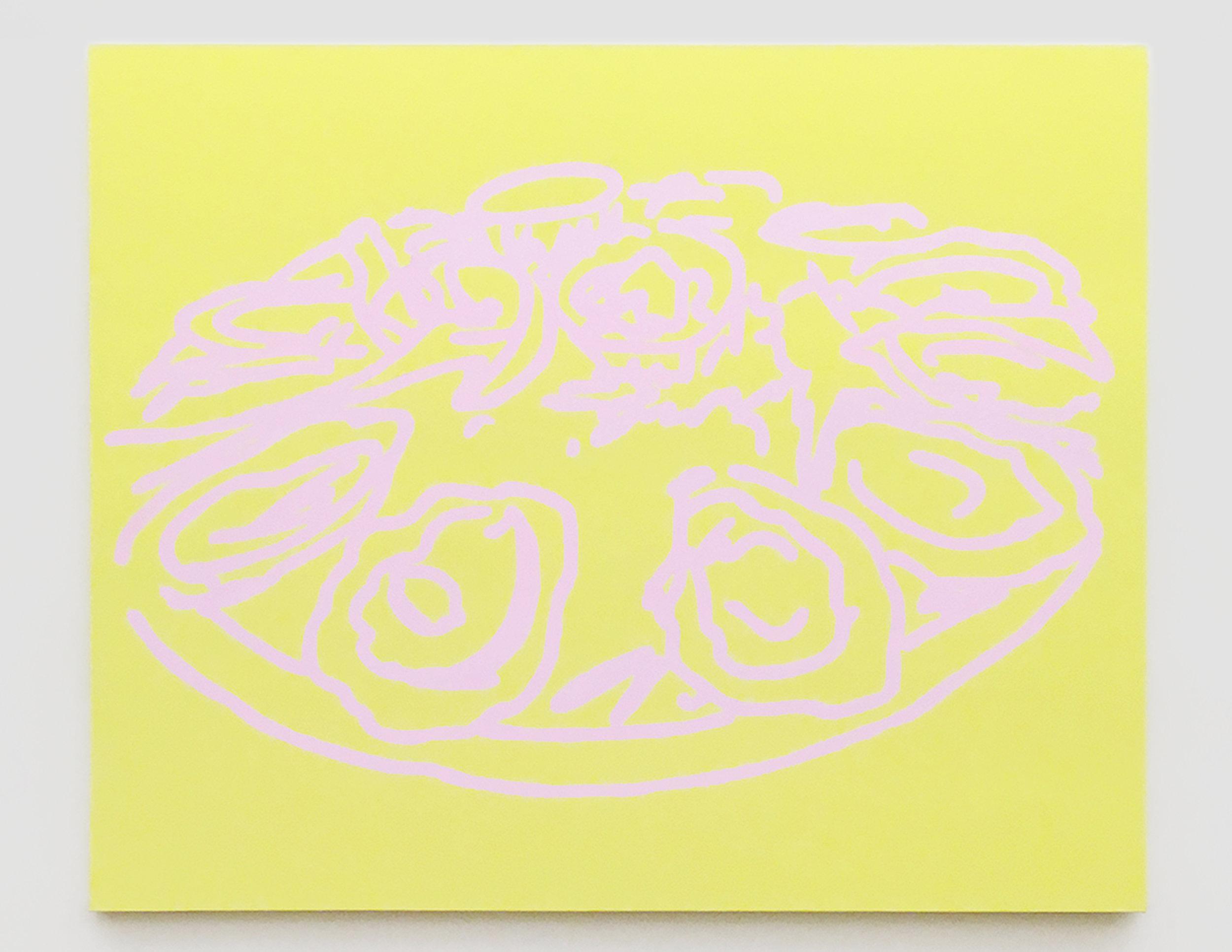 "untitled, 2017  acrylic on canvas  60""× 72"""