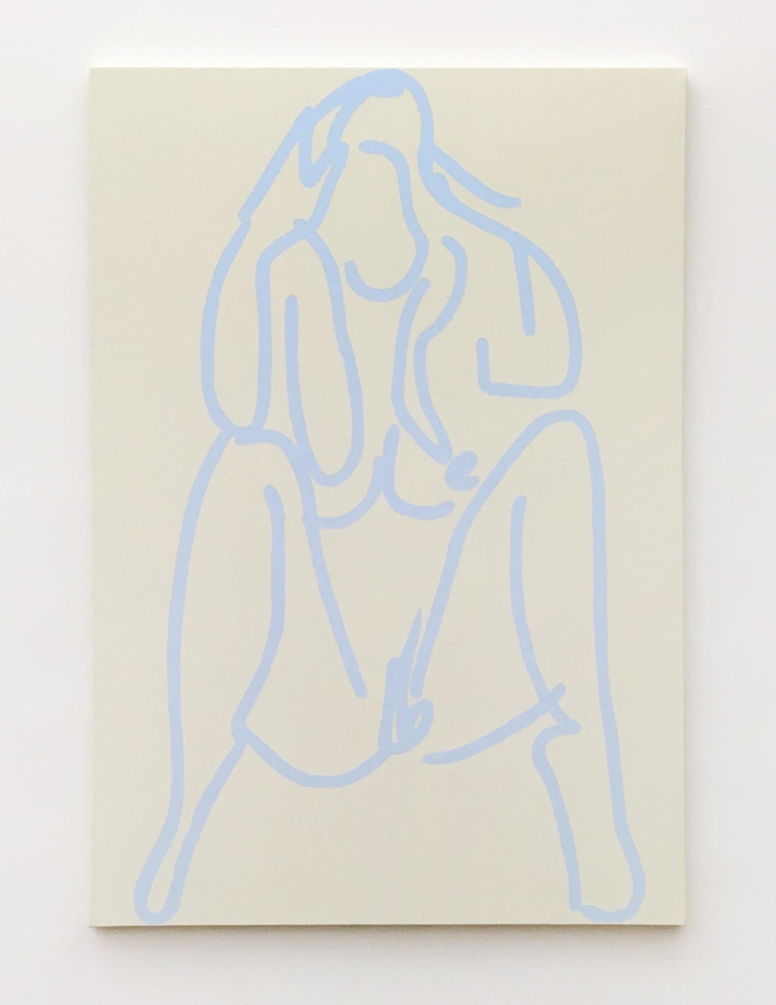 untitled, 2016  acrylic on canvas   72''x48''