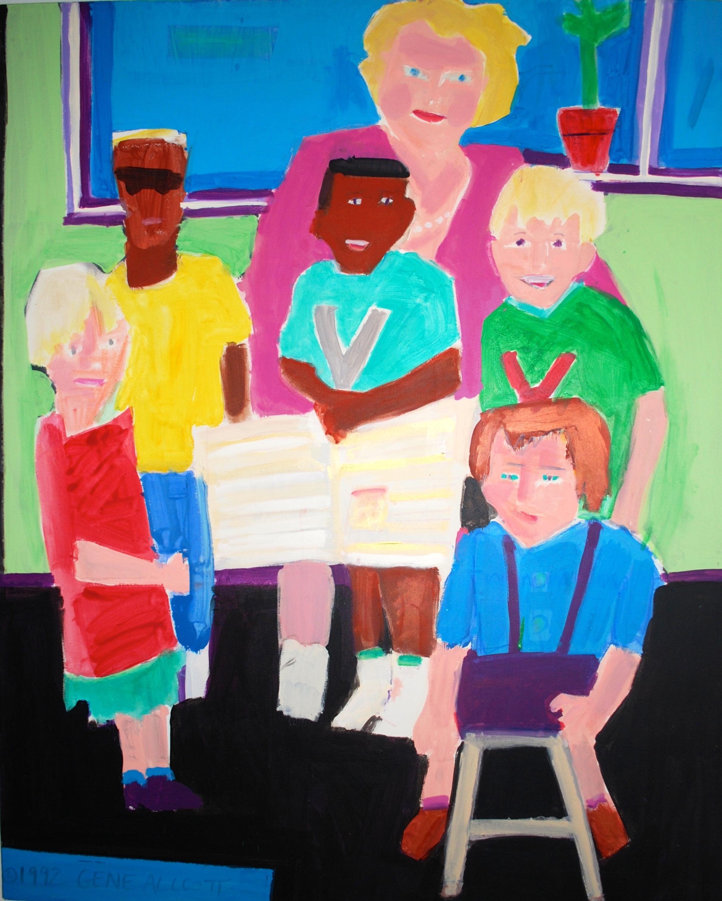 Weekly Reader , Anne Stallard, former President the YWCA of America, reads to children