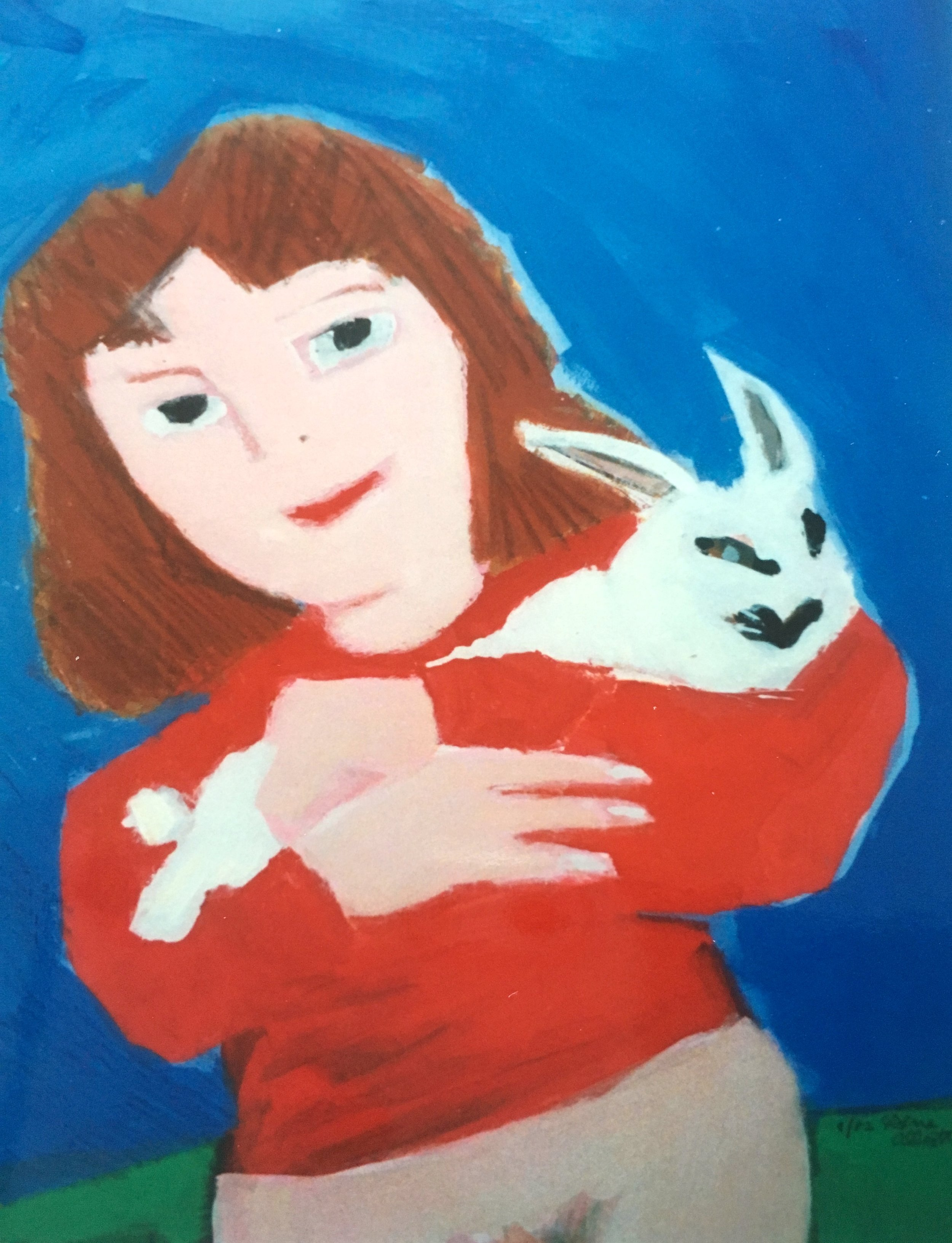 Girl with a Rabbit, 1982