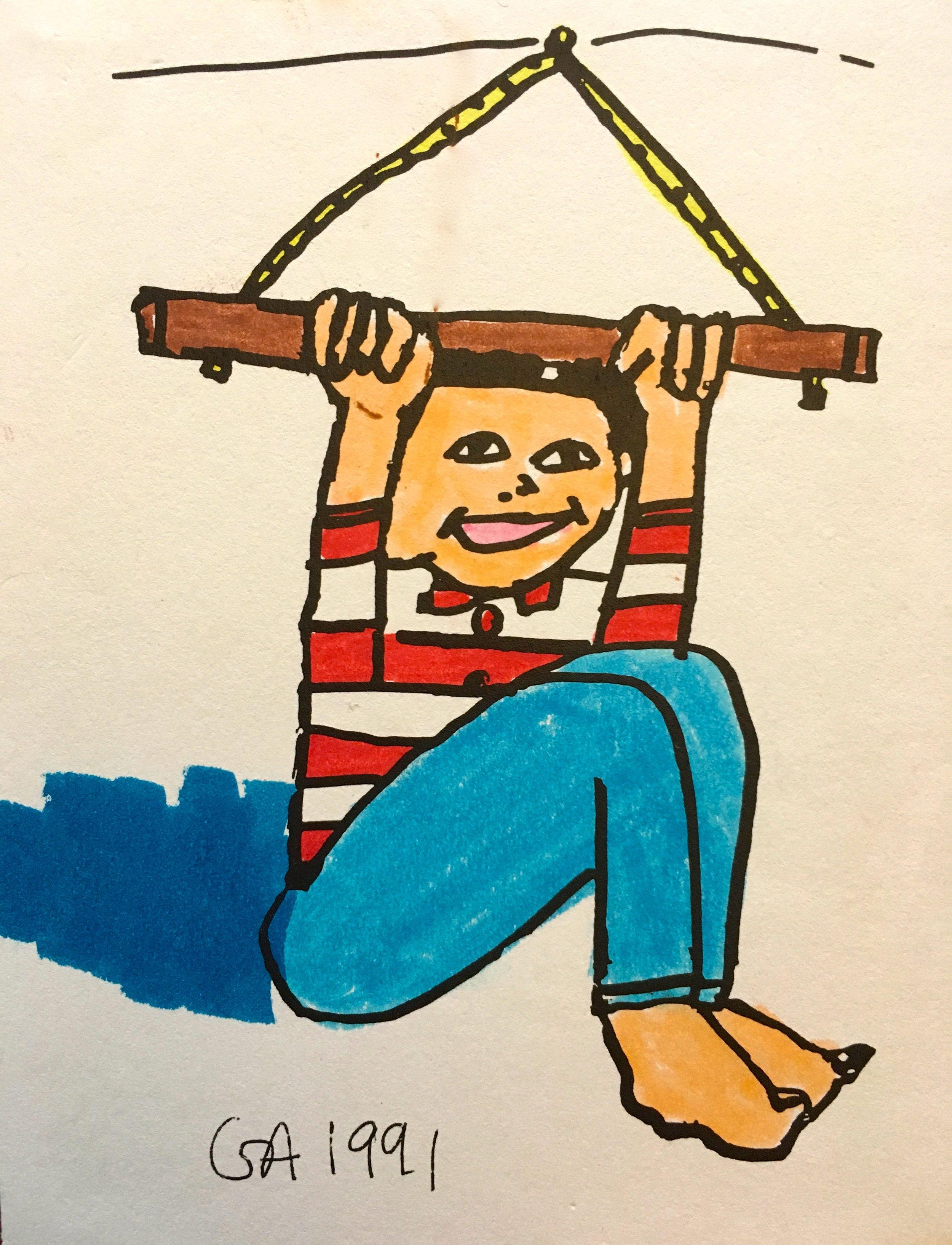 Boy on Trapeze